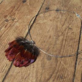Pandantiv din pene naturale de fazan 1