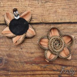 Clipsuri pantofi flori metalice crem