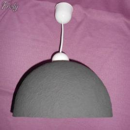 Lustra tip pendul cu abajur bol negru