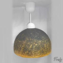 Lustra tip pendul cu abajur negru-auriu
