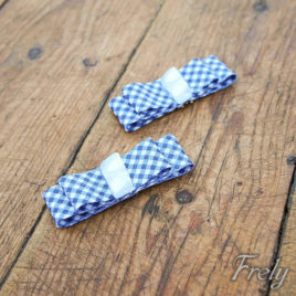 Clipsuri pantofi fundite alb-albastru