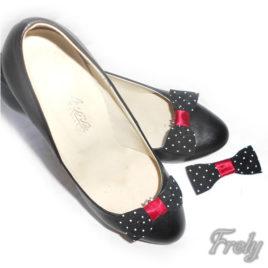 Set clipsuri pantofi si clama cu buline