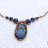 Colier infinity cu lapis lazuli