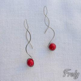 Cercei spirala cu perla