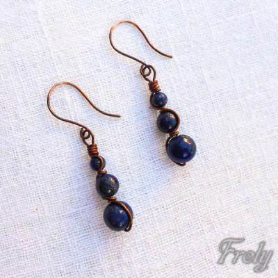 Cercei infinity cu lapis lazuli