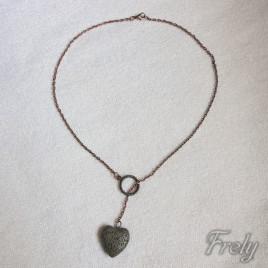 Colier rock heart pentru difuzat arome